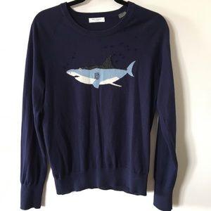 Equipment beaded shark lightweight sweater size s